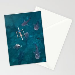 Swimming with whale sharks! Stationery Cards