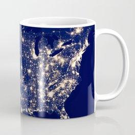 City Lights of the United States Coffee Mug