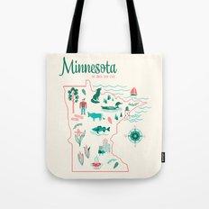 Minnesota State Love Tote Bag