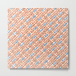 Breeze blue orange Metal Print