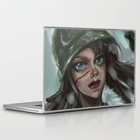 the winter soldier Laptop & iPad Skins featuring Winter Soldier by Soggykitten™