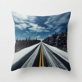 Moonlit Lanes Throw Pillow