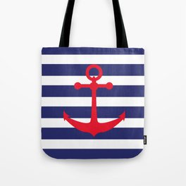 AFE Nautical Red Ship Anchor Tote Bag