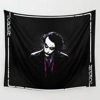 gandalf Wall Tapestries featuring Mr. Joker by Febrian89