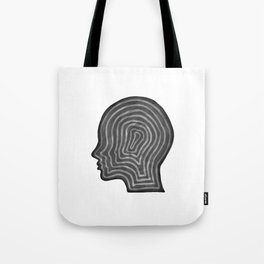 Abstract head profile Tote Bag