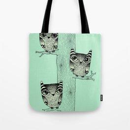 Owls (green) Tote Bag