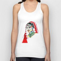 indian Tank Tops featuring Indian by Cemile Demir Uzunoglu