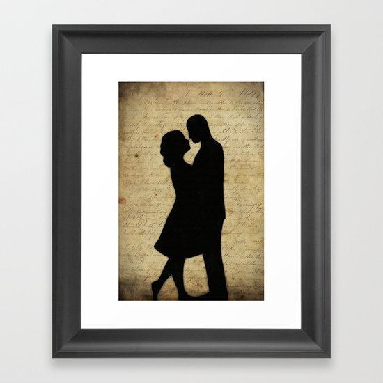 Loving Couple Framed Art Print