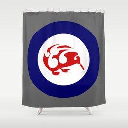 Kiwi Air Force Roundel Shower Curtain