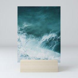 Teal Sea Waves Mini Art Print