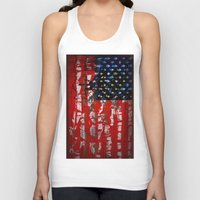 flag Tank Tops featuring Flag by Milton