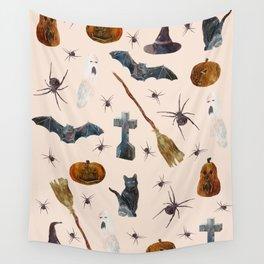 Halloween Pattern Wall Tapestry