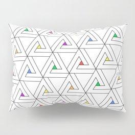 Triangulated Colours Pillow Sham