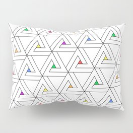 Triangulated Colours - Triangle Penrose Pattern Pillow Sham
