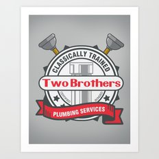 Two Brothers Plumbing Art Print