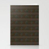 hindu Stationery Cards featuring Vintage Hindu Brown Paisley  by DigitalKrafts