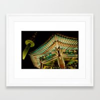 korea Framed Art Prints featuring korea by iamkin
