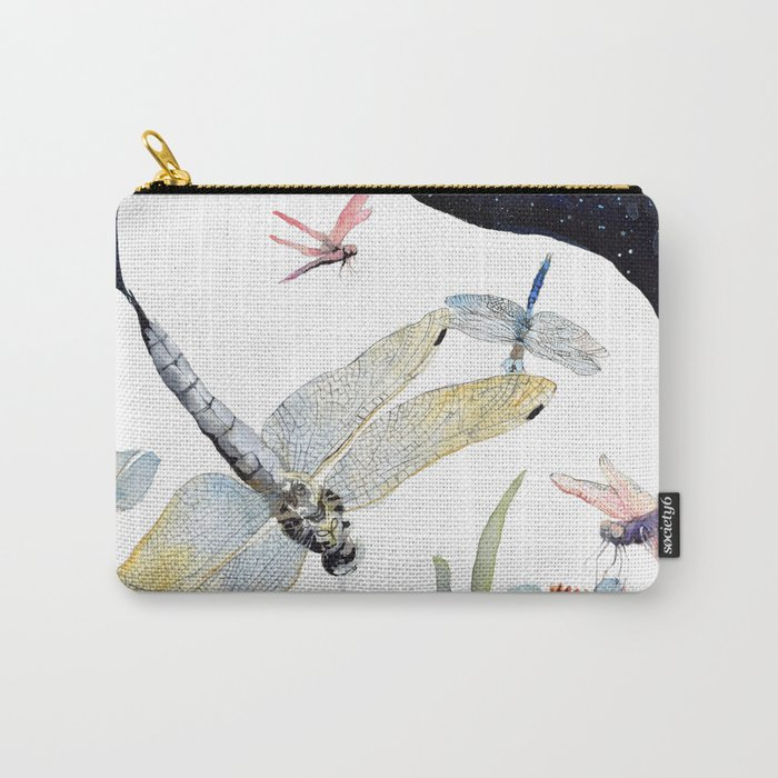 Good Night Surreal Dragonfly Artwork Carry-All Pouch