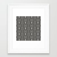 ohm Framed Art Prints featuring OHM by Georgiana Paraschiv