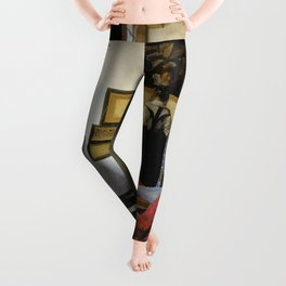 Johannes Vermeer  - The Music Lesson Leggings