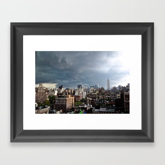 Taking The City By Storm Framed Art Print