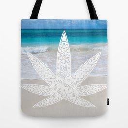 Aloha 420 Leaf White Tote Bag