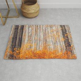 orange autumn Rug