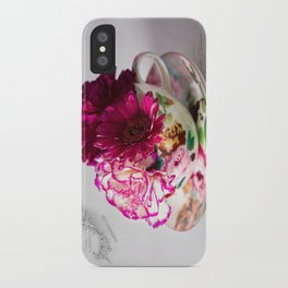 Shabby chic floral iPhone Case