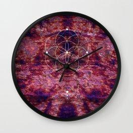 Seed Of Life Geometry Wall Clock