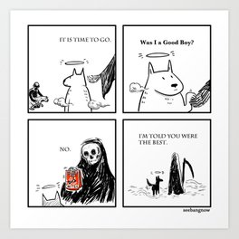 Death and the Dog Art Print