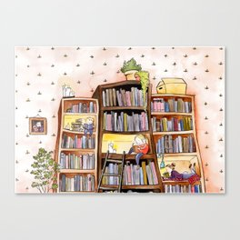 We love books Canvas Print