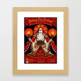 Beltane poster  Framed Art Print