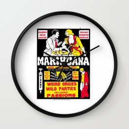 Marijuana Poster (Reefer Madness) Wall Clock