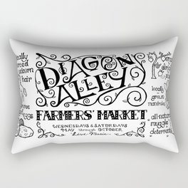 Diagon Alley Farmers' Market Rectangular Pillow