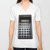 math V-neck T-shirts featuring Fuck Math by Wis Marvin