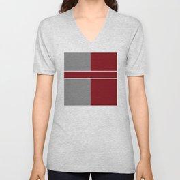 Team Color 6....gray,maroon Unisex V-Neck