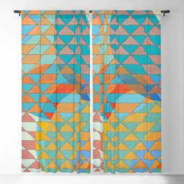 Triangle Pattern No. 11 Circles Blackout Curtain