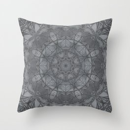 Mandala of My Indigo Light Throw Pillow