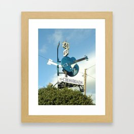 Down at The Crossroads. Clarksdale, MS Framed Art Print