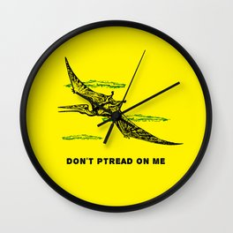 Don't Ptread on Me (don't tread on me) Wall Clock
