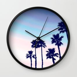 Tranquillity - violet sunset Wall Clock