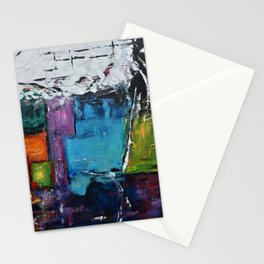 TETRIS, Abstract  Acrylic Painting, colorful mosaic Stationery Cards