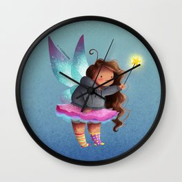 the lazy fairy godmother Wall Clock