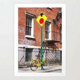 152. One Way by Bike, New York Art Print