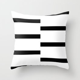 Double Black White Stripe Throw Pillow