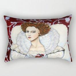 Elizabeth, the Virgin Queen, Queen of Hearts Rectangular Pillow