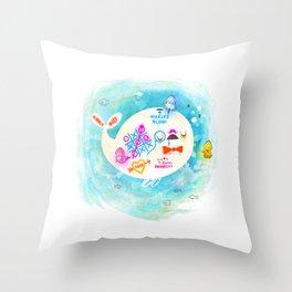 Squidfitti Throw Pillow