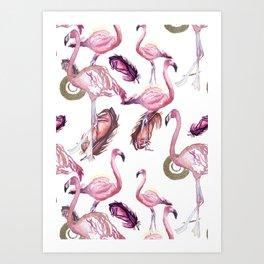 Flocked Art Print