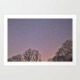 Nights under the stars Art Print