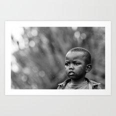 Child in Rwanda Art Print